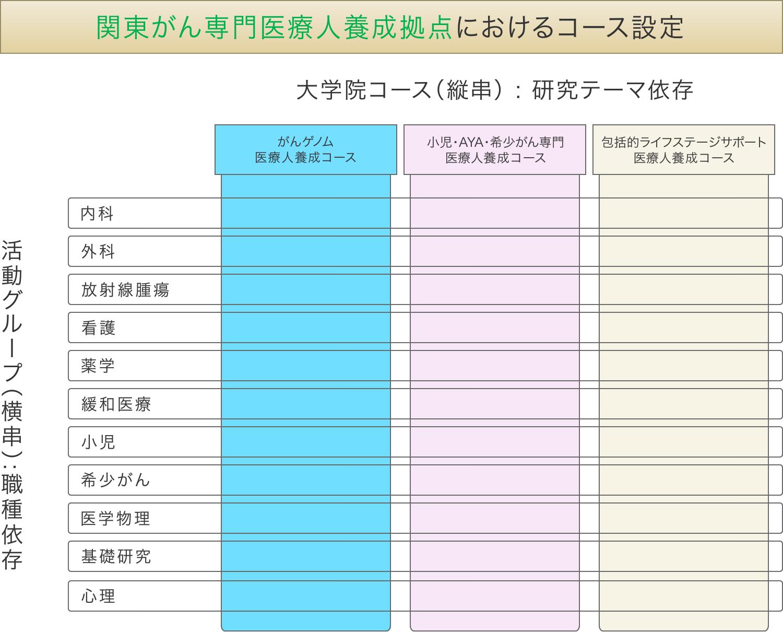 関東がん専門医療人養成拠点におけるコース設定